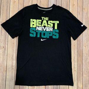 Nike Mens Regular fit The Beast Never Stops Sz M